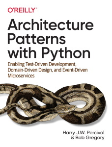 Architecture Patterns with Python book cover
