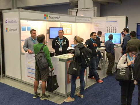 Microsoft booth at PyCon US 2014