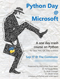 Python Day at Microsoft poster